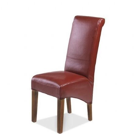 Talaja Cube Red Bonded Leather Chair